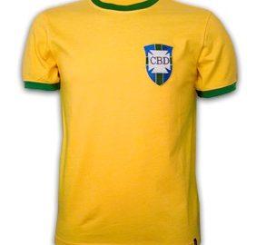 Maillot domicile du Brésil que porta Pelé