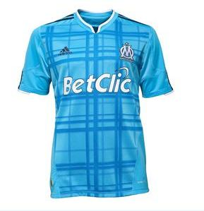 Maillot olympique de marseille ext rieur maillots for Maillot exterieur om