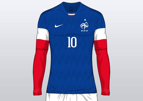 Les nouveaux maillots de la France pour l'Euro 2016 [concept
