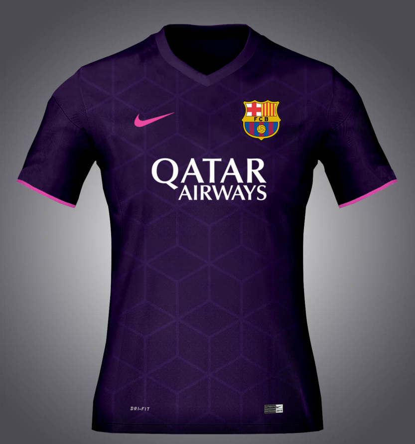 Fuite du maillot ext rieur du fc barcelone maillots for Barcelone maillot exterieur