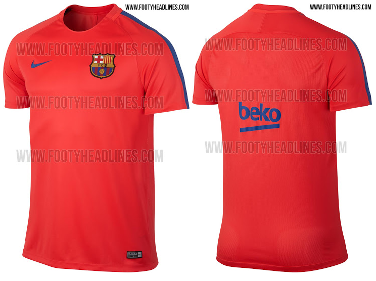 nouveau maillot training du fc barcelone 2016 2017 maillots football. Black Bedroom Furniture Sets. Home Design Ideas