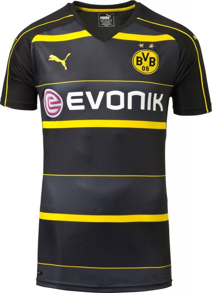 Dortmund pr sente son maillot ext rieur 2016 2017 for Maillot borussia dortmund exterieur