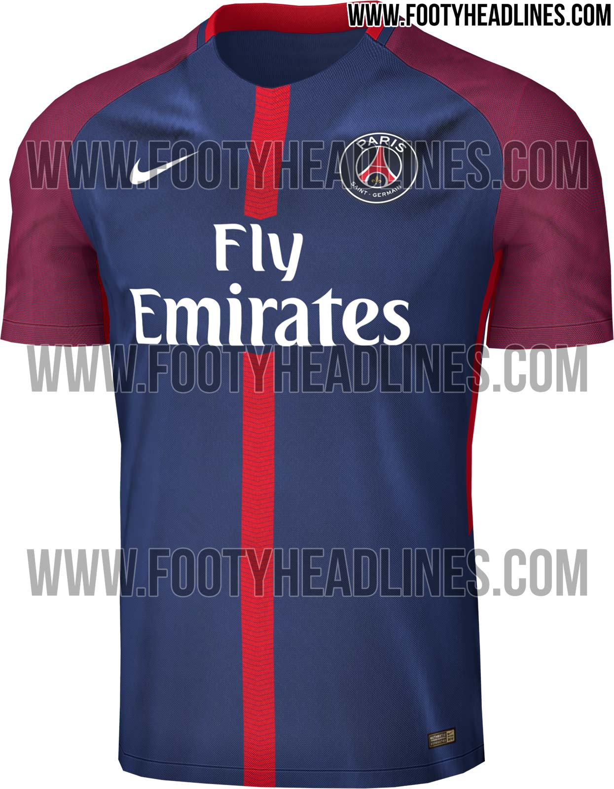 maillot domicile du Paris Saint-Germain